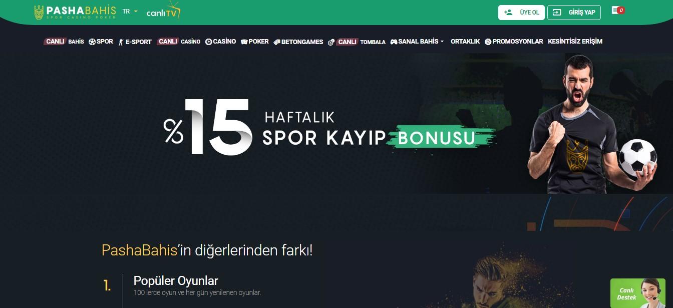 Pashabahis Casino Oyun Seçenekleri
